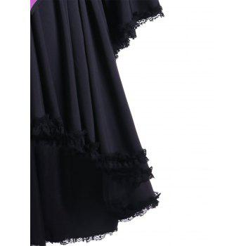 Halloween Two Tone Lace Up Cocktail Dress - VIOLET ROSE M