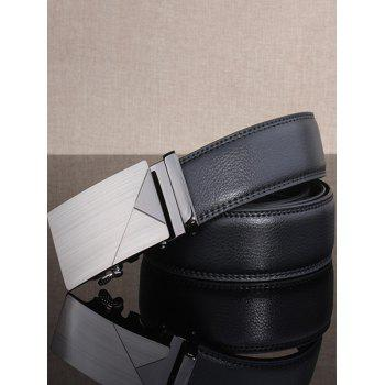 Automatic Buckle Polished Geometric Wide Belt - FROST
