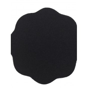 Floral Shape Adhesive Nipple Sticker - BLACK ONE SIZE