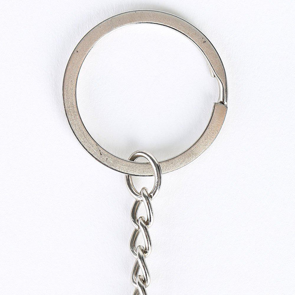 Metal Round Christmas Bell Key Chain - RED
