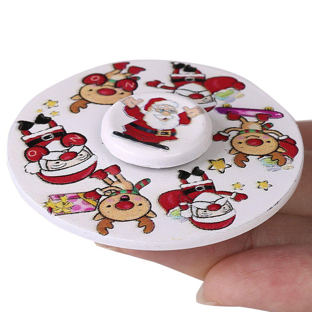 Christmas Round EDC Toy Fidget Spinner - WHITE