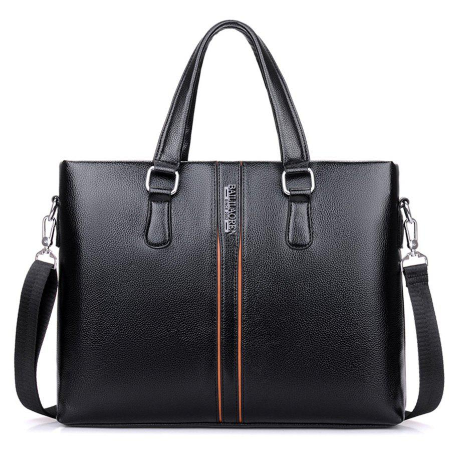 Top Handle Letter Color Block Handbag - BLACK