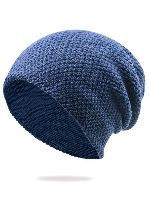 Outdoor Thicken Knit Lightweight Beanie - DEEP BLUE