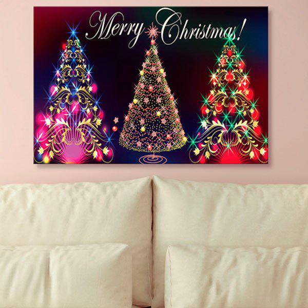 Neon Christmas Tree Print Wall Art Canvas Painting - COLORFUL 1PC:24*39 INCH( NO FRAME )