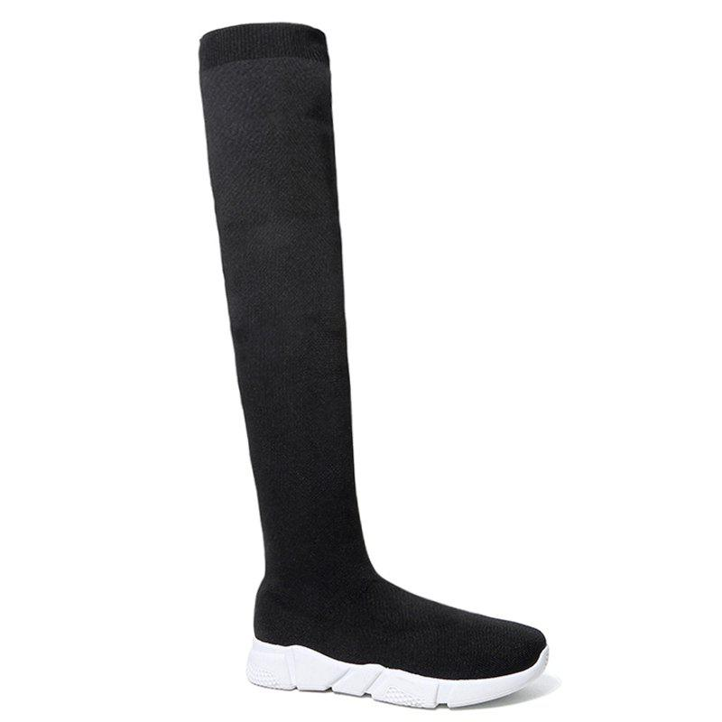 Over The Knee Low Heel Round Toe Boots facndinll winter shoes fashion woollen round toe warm snow over the knee boots flat platform heels women sexy ladies dress boots