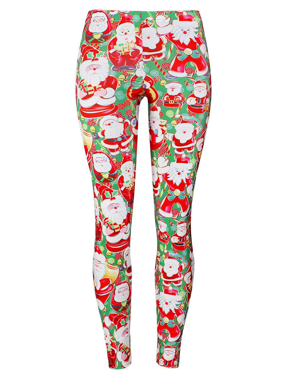 Santa Claus Christmas Game Leggings inflatable cartoon customized advertising giant christmas inflatable santa claus for christmas outdoor decoration