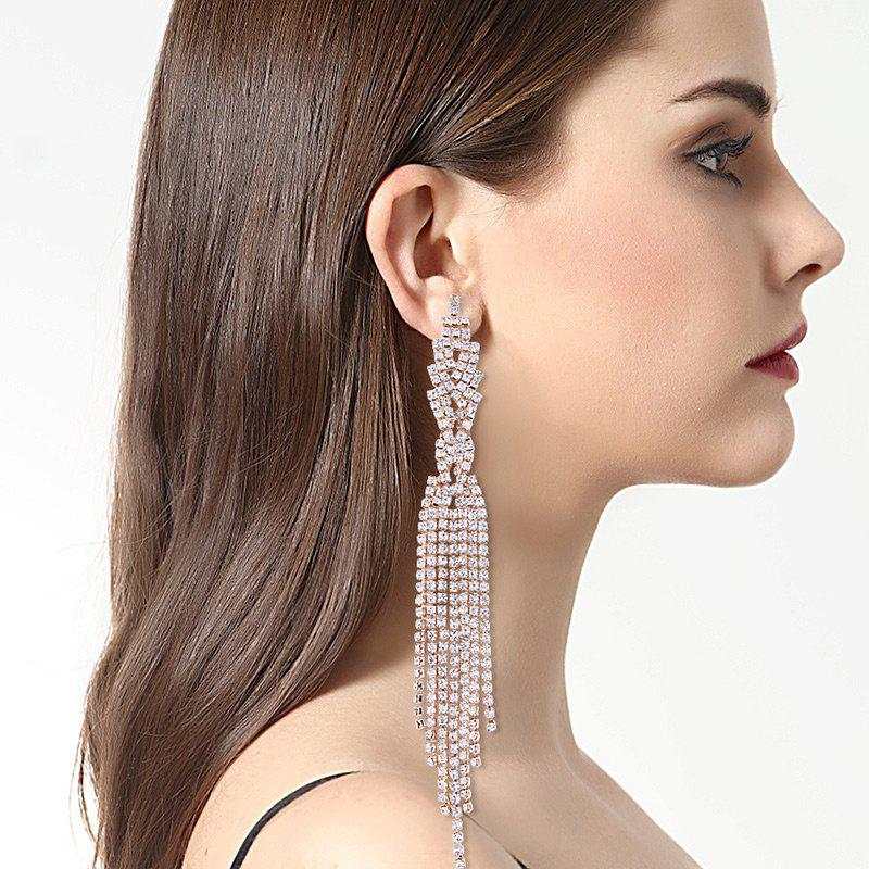 Alloy Rhinestone Embellished Dangle Earrings