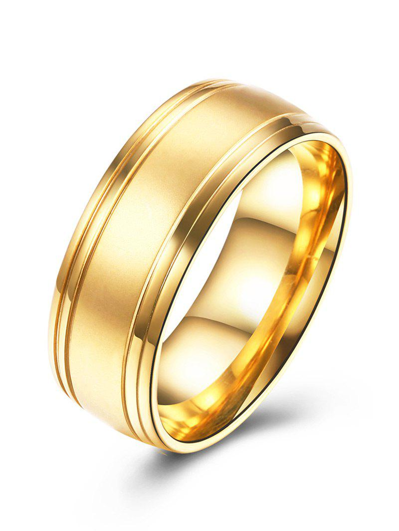 Alloy Circle Finger Ring - GOLDEN 8