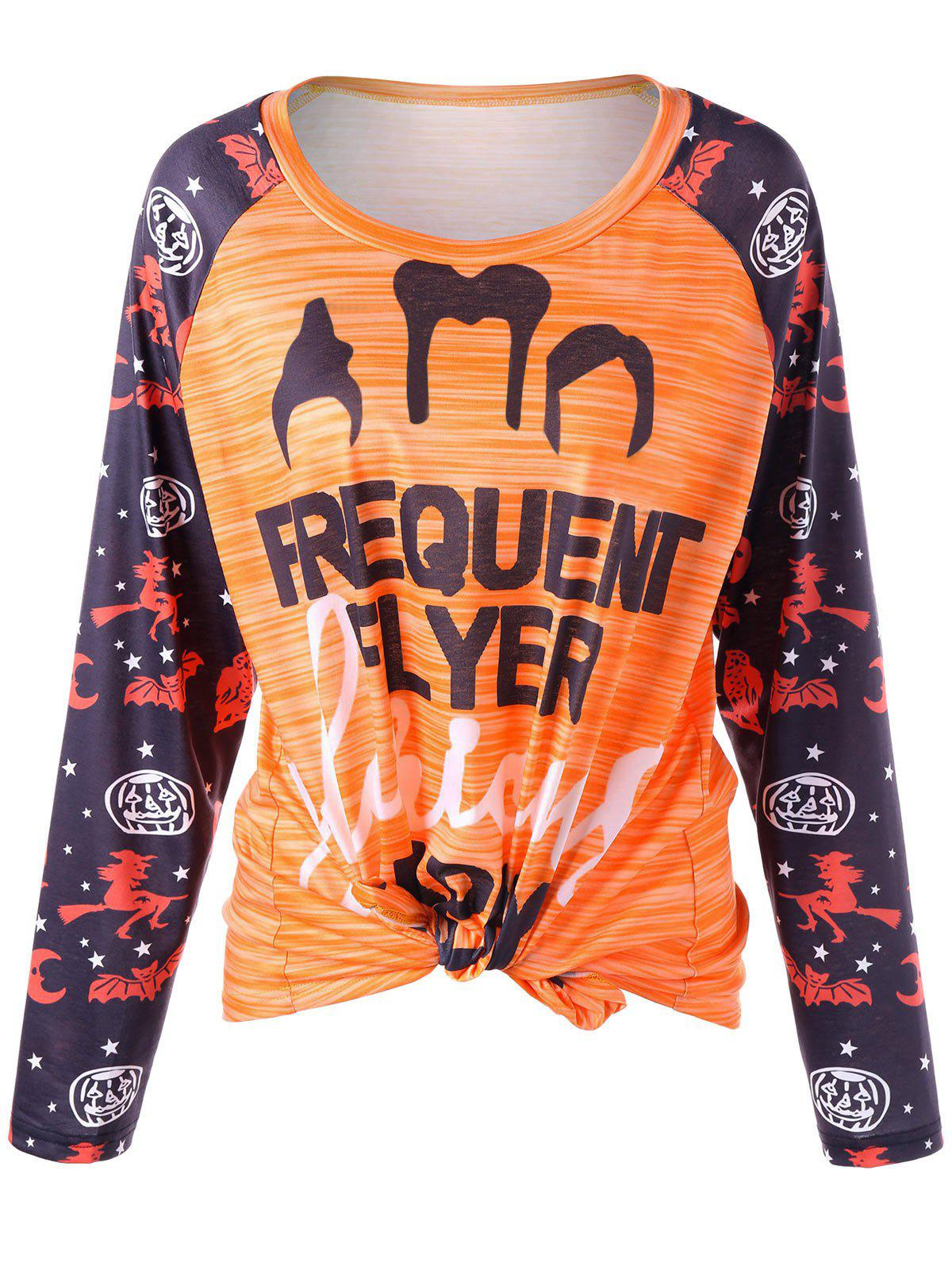 2018 halloween plus size graphic raglan sleeve t shirt for T shirt graphics for sale