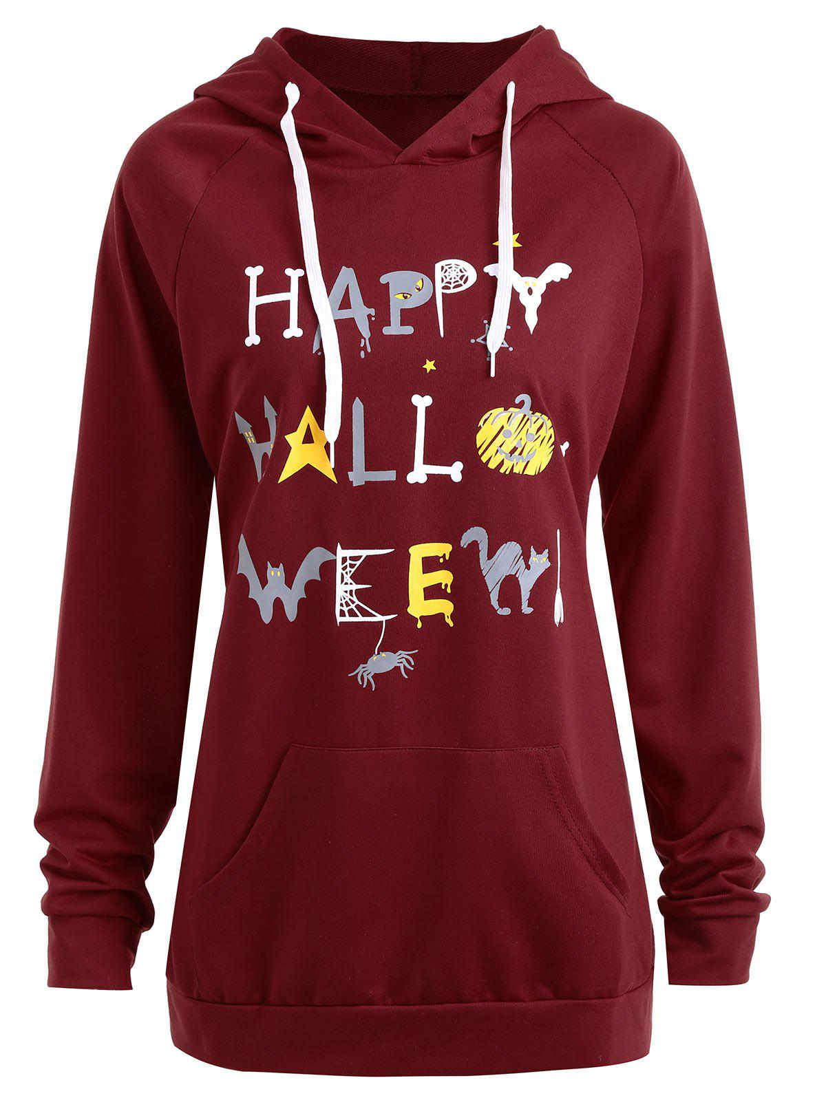 Happy Halloween Pumpkin Plus Size Hoodie plus size halloween pumpkin spatter print hoodie