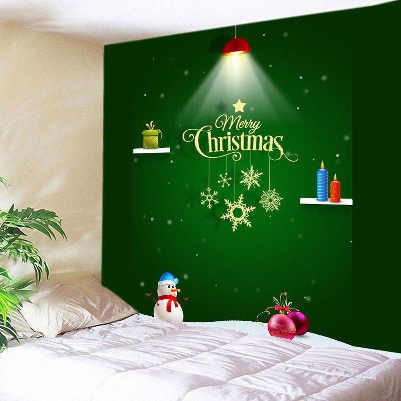 Merry Christmas Light Print Tapestry Wall Hanging Art брюки care of you care of you ca084ewjlm99