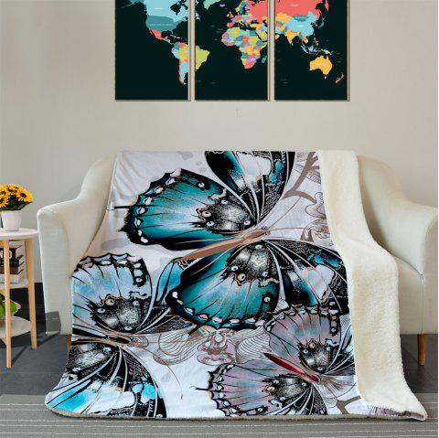 Butterfly Pattern Fleece Thermal Blanket - COLORMIX W59 INCH * L79 INCH