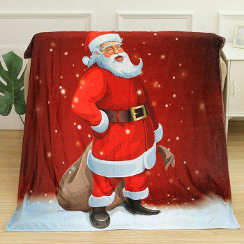Christmas Santa Claus Pattern Flannel Blanket - RED W59 INCH * L79 INCH