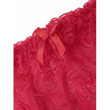 Lace Extender Skirt with T-back - RED L