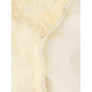 Mesh Lace See Through Panties - LIGHT BEIGE ONE SIZE