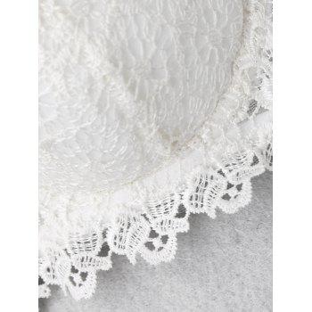 Lace Underwire Push Up Bra - WHITE 70B