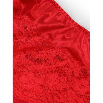 Tiered High Low Halloween Costume - RED S