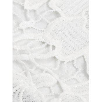 Lace Bridal Bralette Top - WHITE L