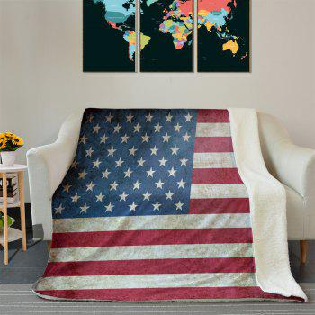 American Flag Pattern Fleece Blanket - COLORMIX COLORMIX