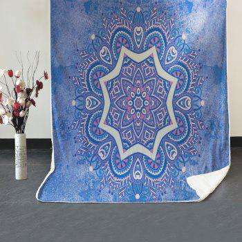 Mandala Pattern Soft Fleece Blanket - BLUE GRAY W39.4INCH*L59.1INCH