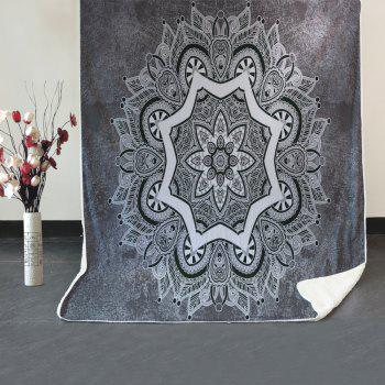 Mandala Pattern Fleece Blanket - GRAY W39.4INCH*L59.1INCH