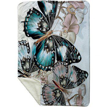 Butterfly Pattern Fleece Thermal Blanket - COLORMIX COLORMIX