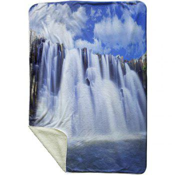 Waterfall Pattern Fleece Thermal Blanket - COLORMIX W59 INCH * L79 INCH