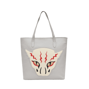 Masked Face Animal Print Shoulder Bag -  GRAY