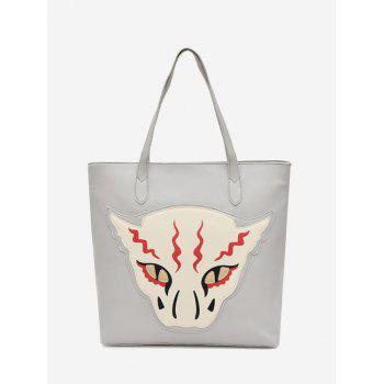 Masked Face Animal Print Shoulder Bag - GRAY GRAY