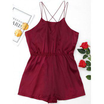 Satin Sleepwear Ropmer - WINE RED S