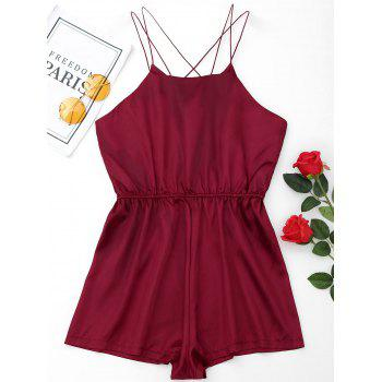 Satin Sleepwear Ropmer - WINE RED WINE RED