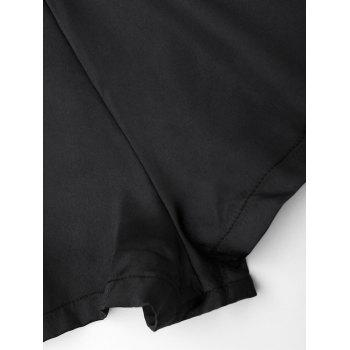Satin Sleepwear Ropmer - BLACK L