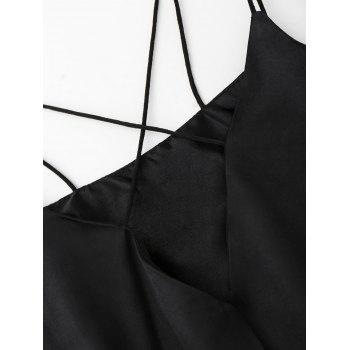 Satin Sleepwear Ropmer - BLACK BLACK