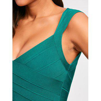 Sleeveless Open Back Bandage Dress - S S