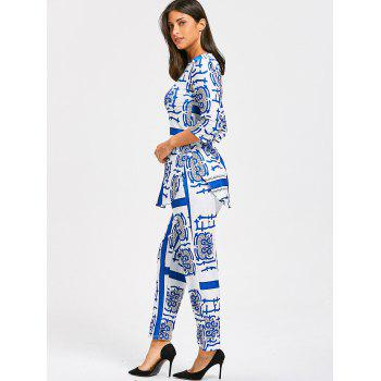 Porcelain Print Slit Tee and Pants - XL XL