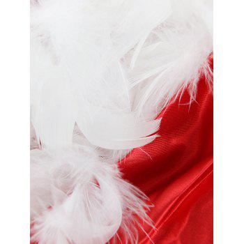 Faux Fur Trim Christmas Costume - RED XL