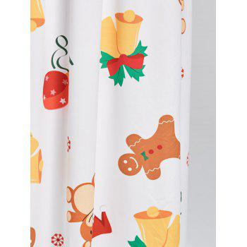 Christmas Bell Bear Snowflake Print Maxi Dress - WHITE WHITE