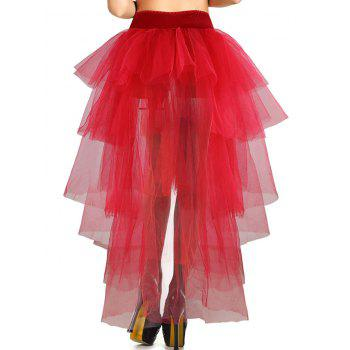 Tiered High Low Halloween Costume - RED RED
