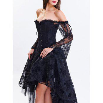 2018 high low two piece corset dress black xl in corset