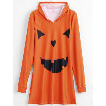 Halloween Deveil Hooded Lounge Dress - PUMPKIN XL