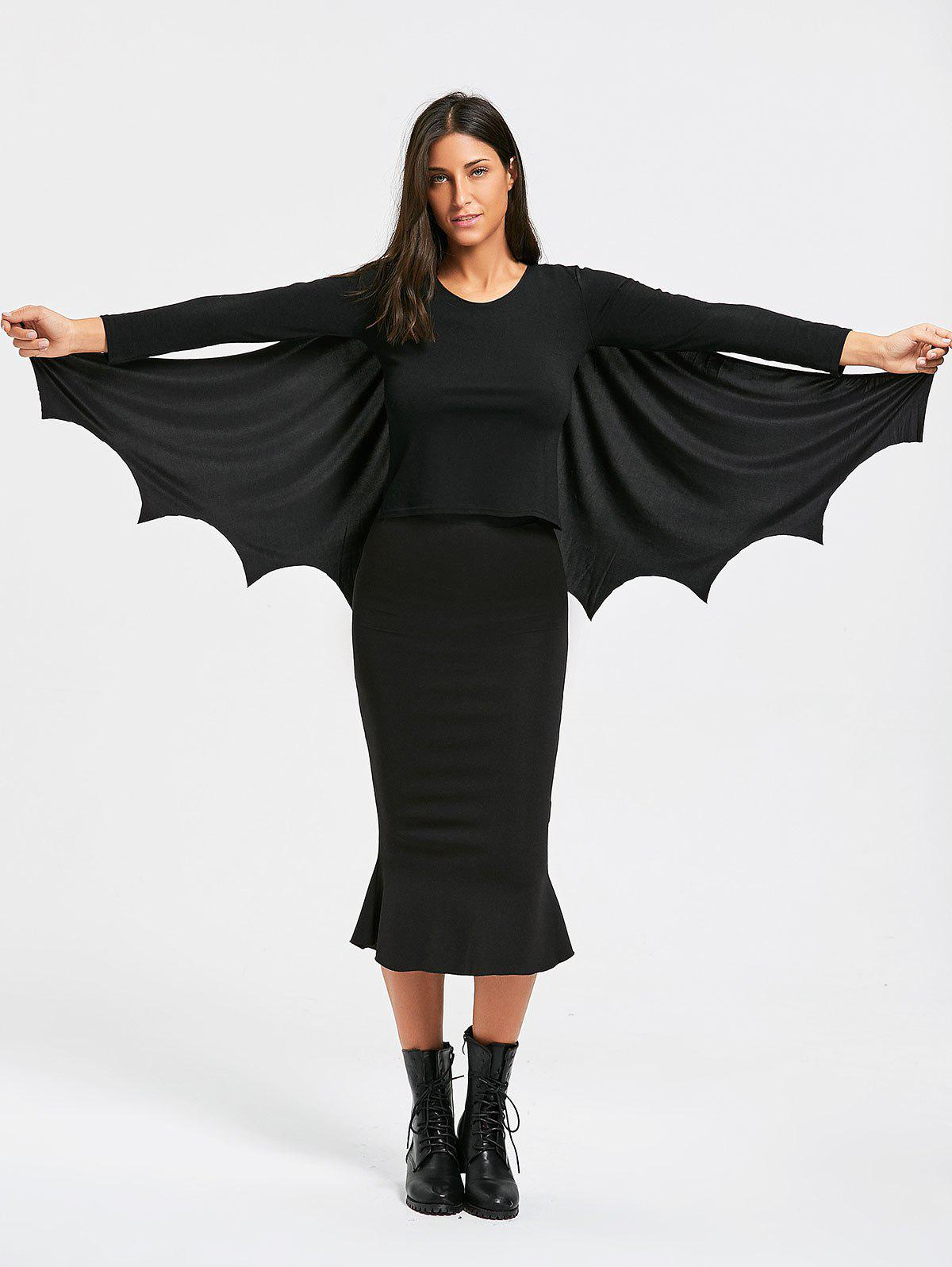 Halloween Batwing Costume Cape - BLACK ONE SIZE