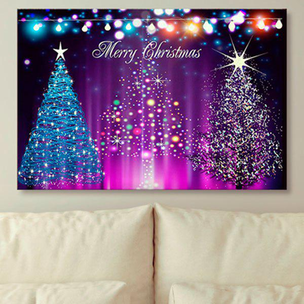 Neon Christmas Tree Prints Canvas Wall Art Painting - PURPLE 1PC:24*39 INCH( NO FRAME )