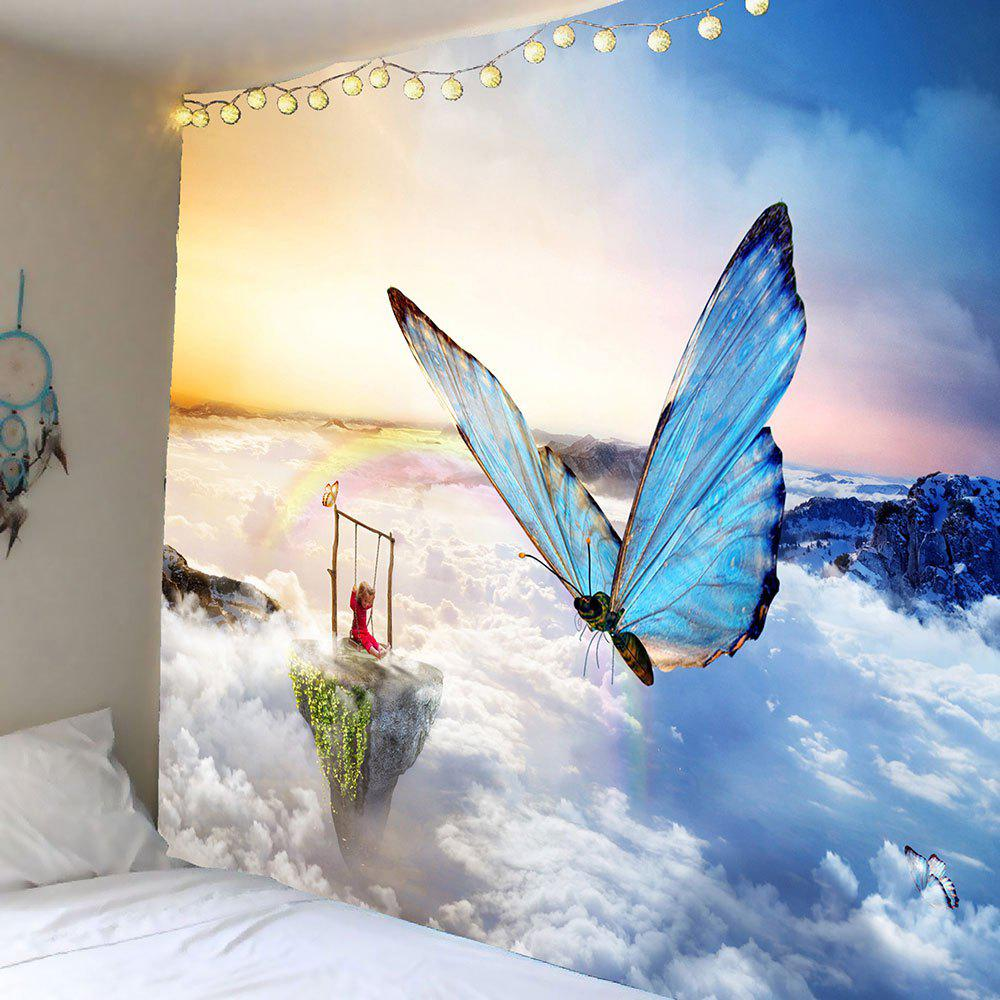 Butterfly Wall Decor Tumblr : Clouds butterfly pattern wall art tapestry colorful w