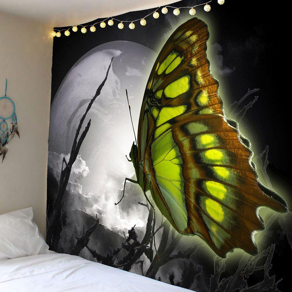 Butterfly Wall Decor Tumblr : Moon butterfly pattern wall decor tapestry colormix w