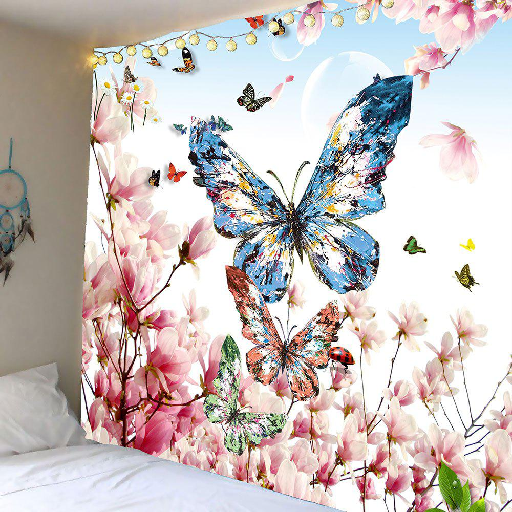 Peach Blossom Butterfly Pattern Wall Art Tapestry bols peach 700ml