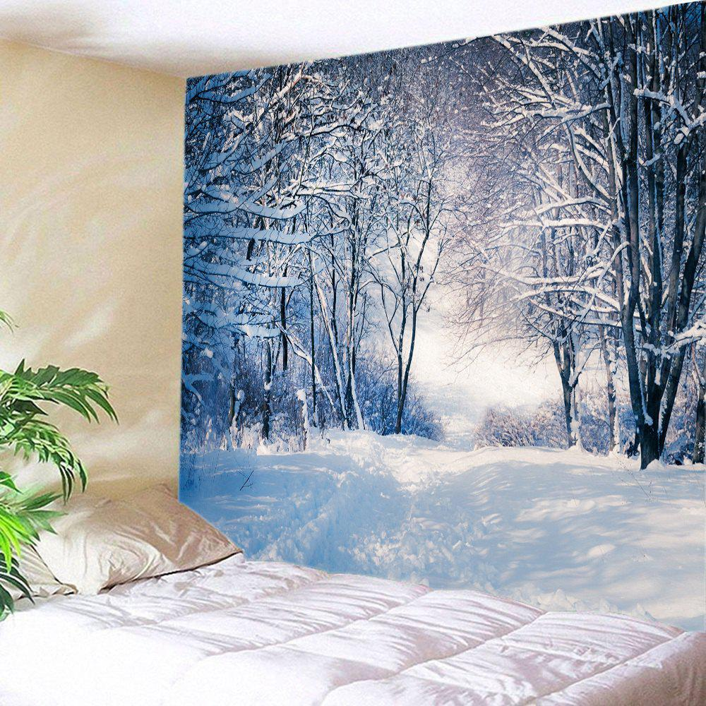 Forest Snow Path Print Tapestry Wall Hanging Decor шины yokohama iceguard stud ig35 235 55 r18 104t xl