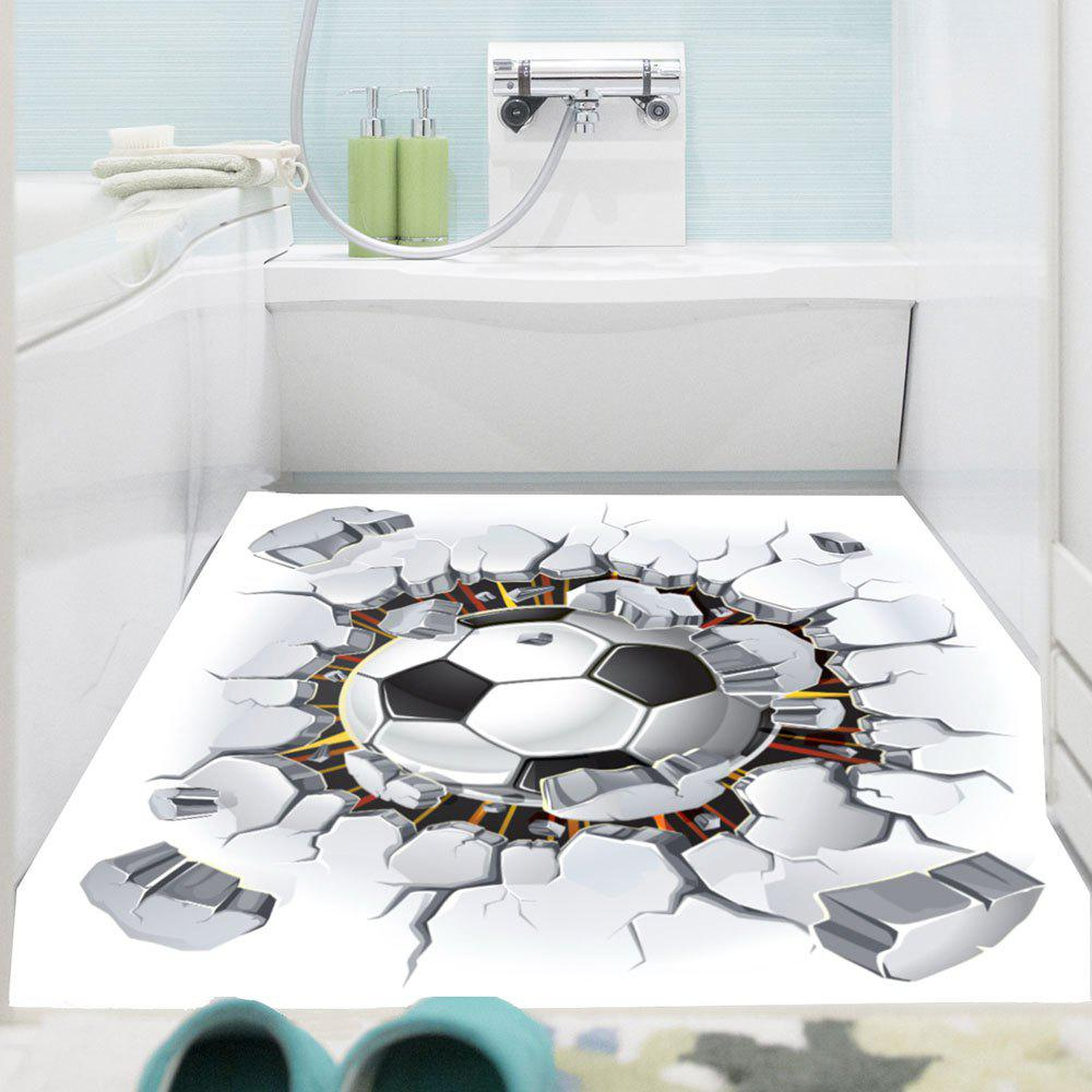 Waterproof 3D Broken Wall Football Pattern Removable Wall Sticker vinyl removable 3d love broken wall sticker