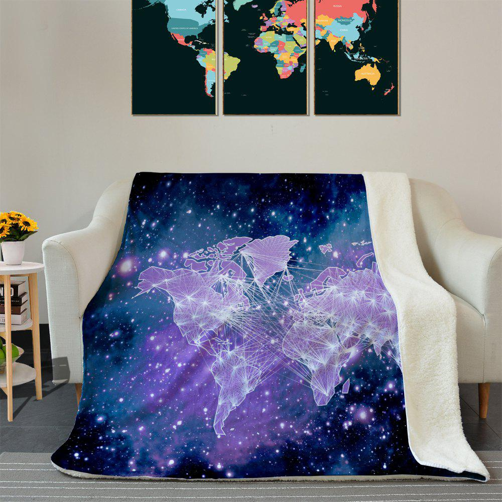 Combinaison thermique de la toile de motif de Galaxy World Map - Pourpre W59 INCH * L79 INCH