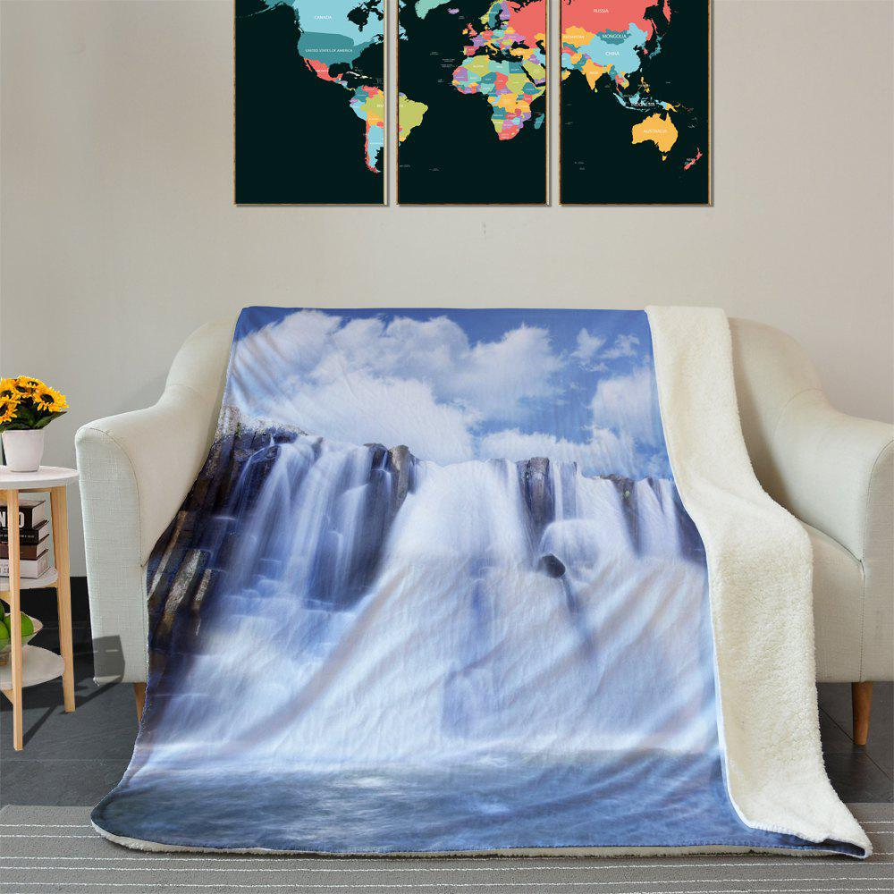 Waterfall Pattern Fleece Thermal Blanket - COLORMIX W39.4INCH*L59.1INCH