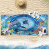 3D Dolphin Pattern Water Absorption Bath Towel - SEA BLUE 75CM*150CM